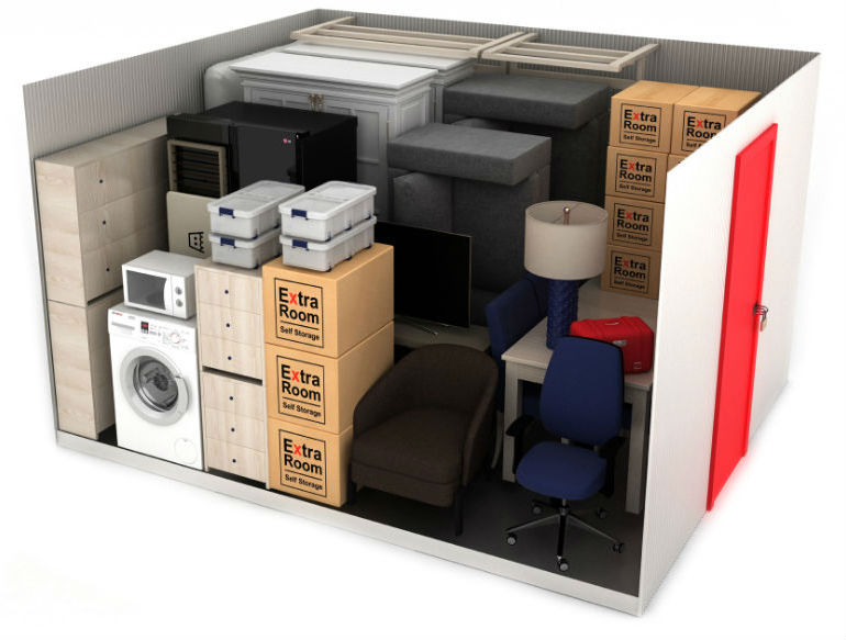 100 square foot self storage example