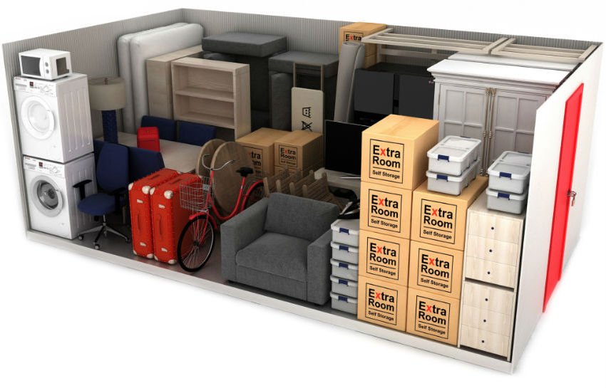 150 square foot self storage example