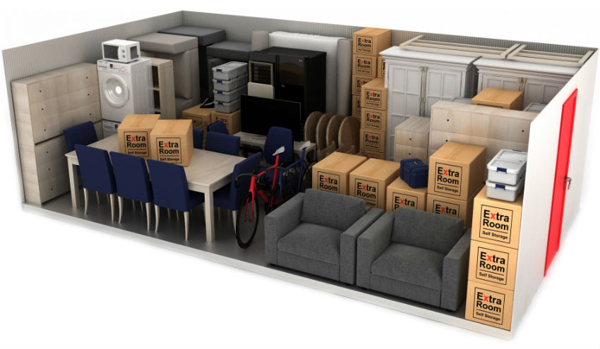 200 square foot self storage example