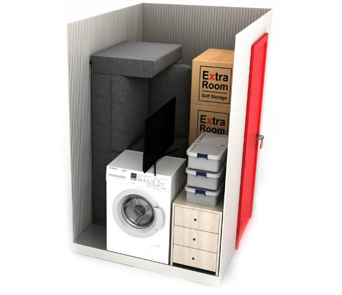 25 square foot self storage example