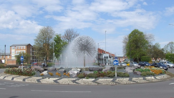 Fountain in Nuneaton Town Centre